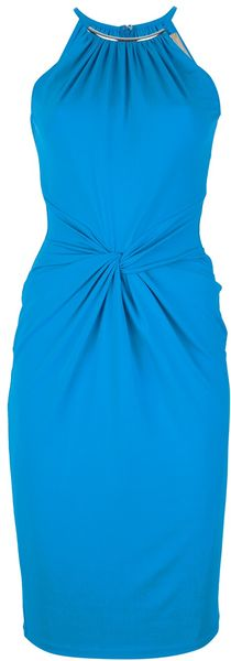 Michael Kors Twist Front Dress - Lyst