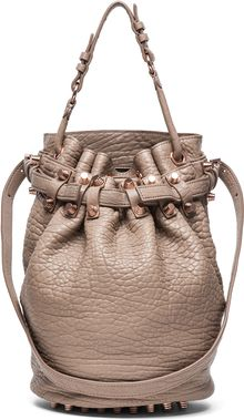 Alexander Wang Diego Bucket Bag with Rose Gold in Latte - Lyst
