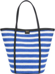 Dolce & Gabbana Striped Tote Bag - Lyst