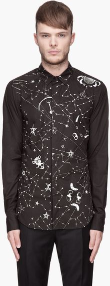 John Galliano Black and White Zodiac Shirt - Lyst