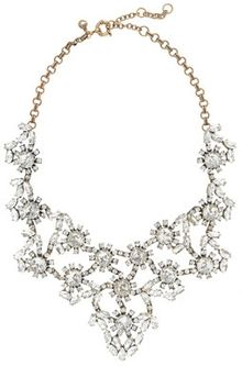 J.Crew Crystal Floral Statement Necklace - Lyst