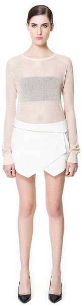 Zara Wrap Mini Skirt - Lyst