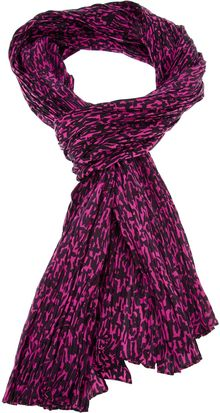 Saint Laurent Crinkled Print Scarf - Lyst
