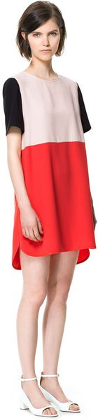 Zara Combination Dress - Lyst