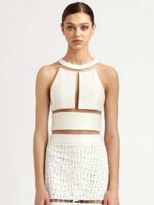Alexander Wang Reptile Silk Illusion Crop Top - Lyst