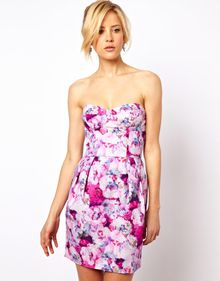 ASOS Collection Moulded Hip Dress in Tapestry Print - Lyst