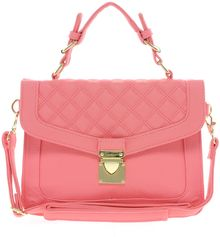 Asos Top Handle Bag with Quilted Flap - Lyst