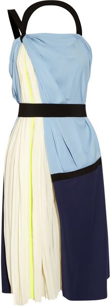 Vionnet Stretchsilk and Crepe Dress - Lyst