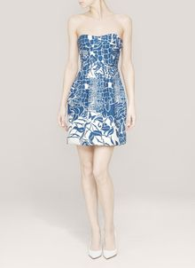 Emilio Pucci Printed Strapless Dress - Lyst