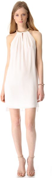 Rebecca Taylor Sequin Halter Mini Dress - Lyst