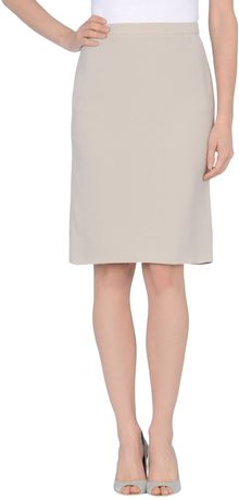 Giorgio Armani Knee Length Skirt - Lyst