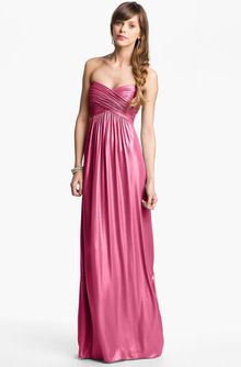Laundry By Shelli Segal Shimmer Chiffon Gown - Lyst