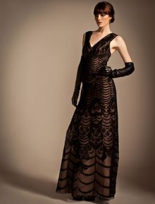 Temperley London Long Wave Embroidery Strappy Dress - Lyst