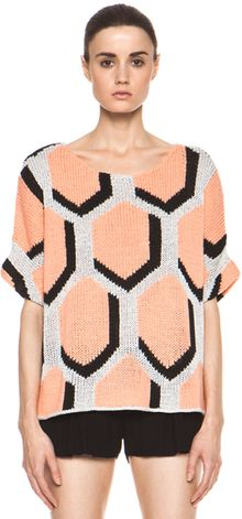 Diane Von Furstenberg Cici Hexagon Sweater in Geometric Print - Lyst
