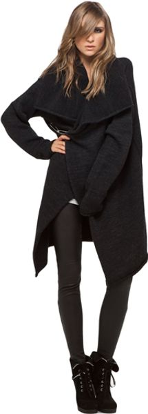 Lars Andersson Drop Shoulder Coat in Charcoal - Lyst