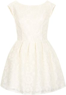 Topshop Embroidered Prom Dress - Lyst