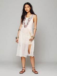 Free People Embellished Open Panel Maxi - Lyst