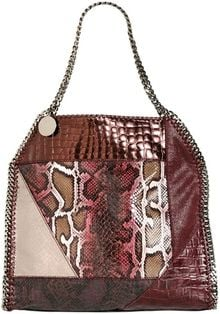 Stella McCartney Medium Falabella Winter Patchwork Fabric - Lyst