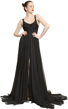 Maria Lucia Hohan Layered Silk Muslin Long Dress - Lyst