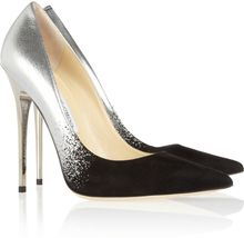 Jimmy Choo Anouk Degradé Metallic Leather and Suede Pumps - Lyst