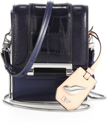 Diane Von Furstenberg Parker Embossed Leather Mini Shoulder Bag - Lyst