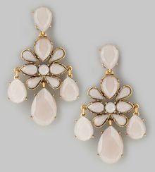 Oscar de la Renta Faceted Chandelier Earrings Petal - Lyst
