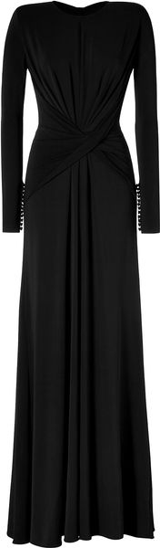 Elie Saab Draped Gown in Black - Lyst