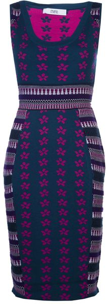 Prabal Gurung Mixedmedia Knit Dress - Lyst
