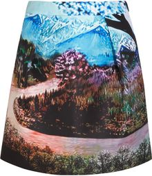Mary Katrantzou Tullie Printed Twill Skirt - Lyst