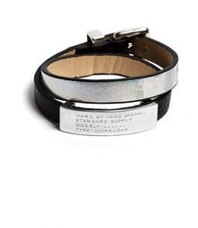 Marc By Marc Jacobs Standard Supply Holographic Double Wrap Bracelet - Lyst
