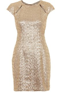 Topshop Sequin Cutout Mini Dress - Lyst