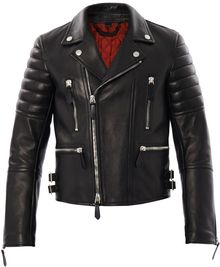 Burberry Prorsum Leather Biker Jacket - Lyst