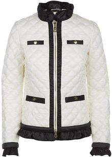 Love Moschino Quilted Ruffle Jacket - Lyst