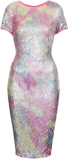 Topshop Sequin Dress By Lashes Edit - Lyst