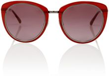 Chanel Red Metal Rim Retro Sunglasses - Lyst