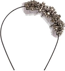 Jennifer Behr Grey Mia Side Crystal Headband - Lyst
