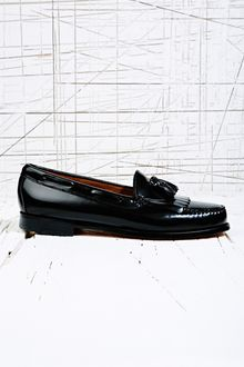 Bass Weejuns Layton Tassel Loafer in Black - Lyst