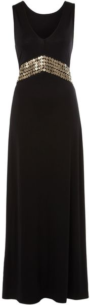 Biba Jersey Maxi Dress with Beaded Embellishment - Lyst