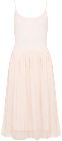 Topshop Tulle Strappy Midi Dress - Lyst