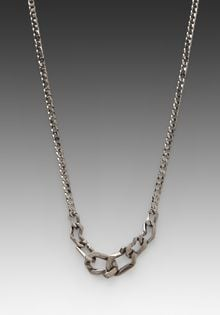 Cast Of Vices Thick Chain Necklace in Black - Lyst