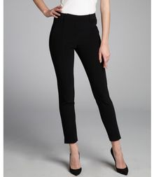 Alexander Wang Black Stretch Cropped Tapered Ankle Zipped Trousers - Lyst