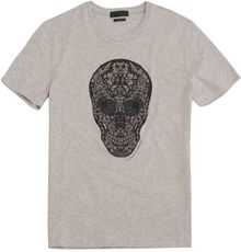 Alexander McQueen Stained Glass Skull Print Tshirt - Lyst