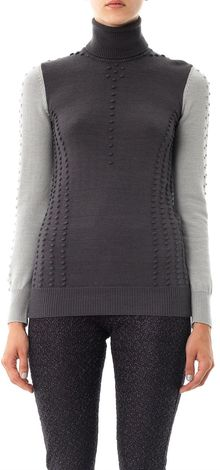 Missoni Bicolour Bobble Wool Knit Sweater - Lyst