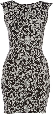 Therapy Floral Jacquard Sleeveless Dress - Lyst