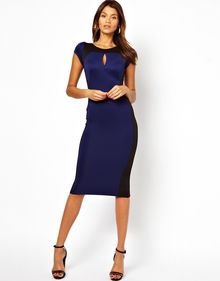 Tfnc Pencil Dress with Contrast Panel - Lyst