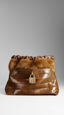Burberry The Little Crush in Alligator and Mink - Lyst