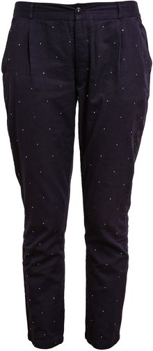 Chinti And Parker Mirror Flecked Cotton Trousers - Lyst