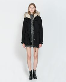 Zara Coat with Detachable Hood - Lyst
