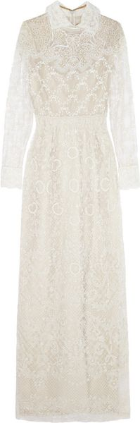 Valentino Beaded Tulle Gown - Lyst