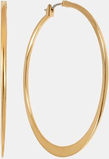 Betsey Johnson Knife Edge Hoop Earrings - Lyst